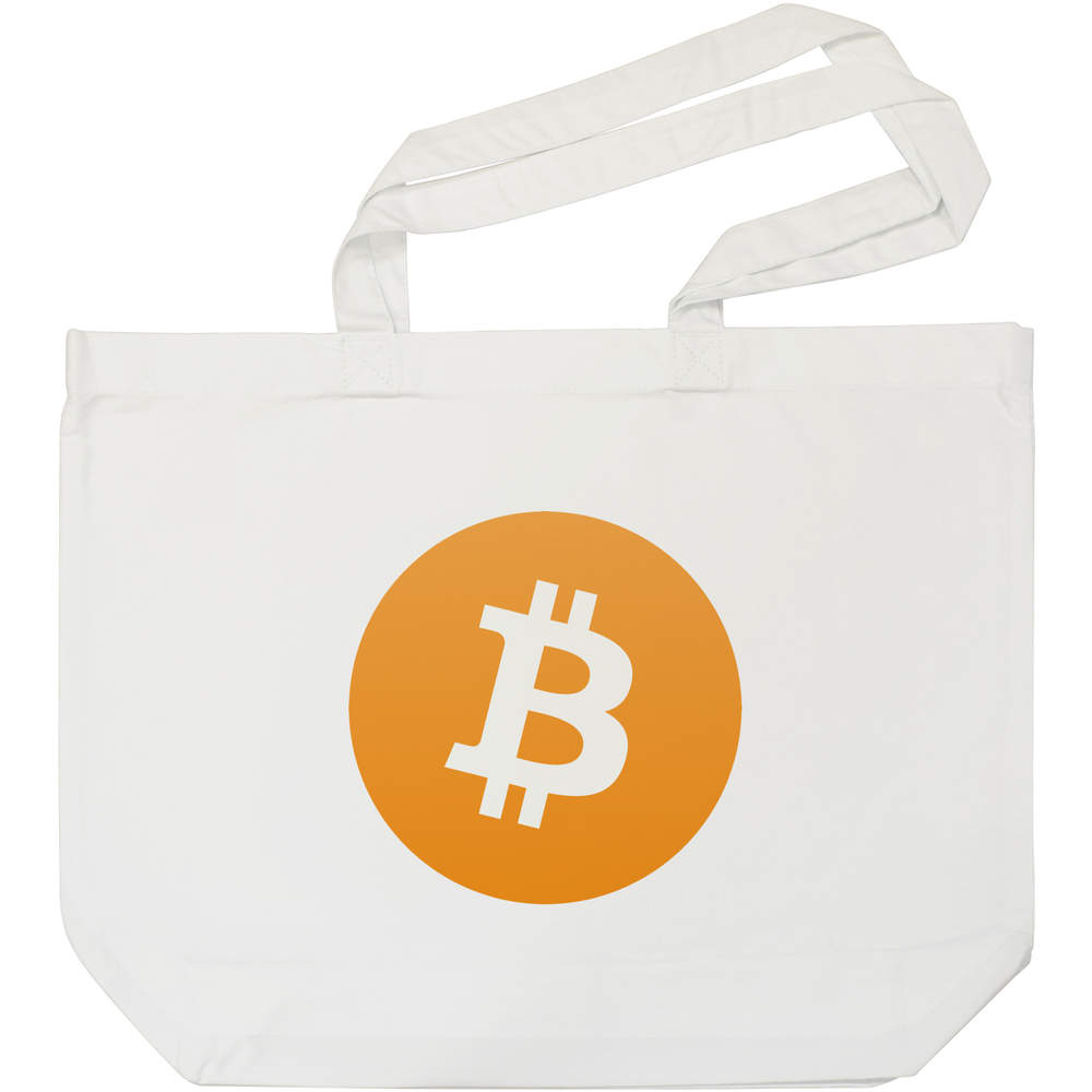 'Bitcoin Logo' Tote Shopping Bag For Life (BG00000001)