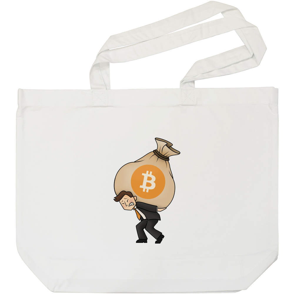 'Bitcoin Heavy Bags' Tote Shopping Bag For Life (BG00000004)
