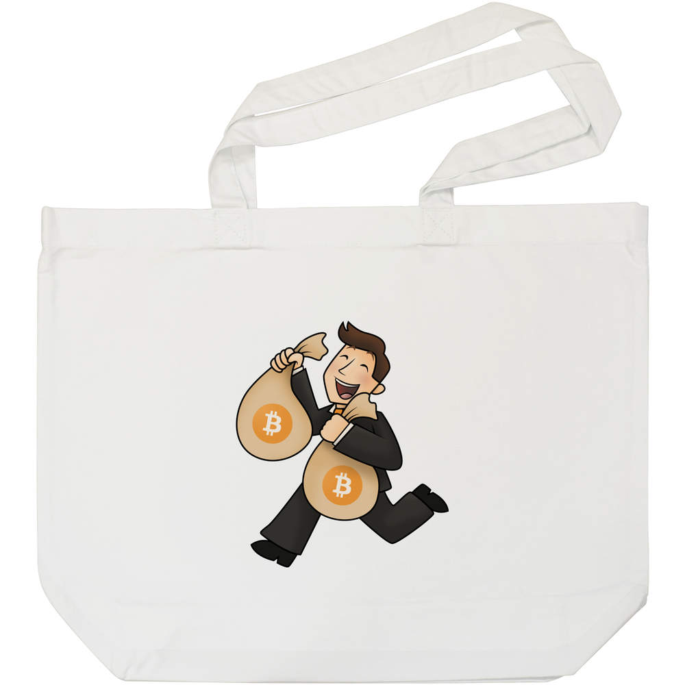 'Bitcoin Bag Holder' Tote Shopping Bag For Life (BG00000005)