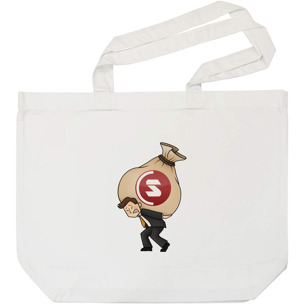 'SuperCoin Heavy Bags' Tote Shopping Bag For Life (BG00000007)