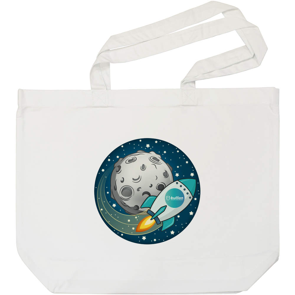 'Bullion Rocket To The Moon' Tote Shopping Bag For Life (BG00000016)