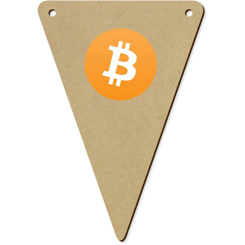 'Bitcoin Logo' Wooden Bunting Flags