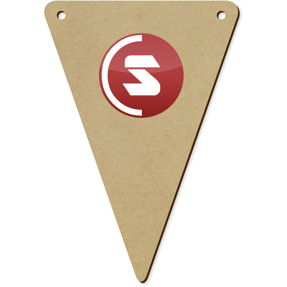 'SuperCoin Logo' Wooden Bunting Flags