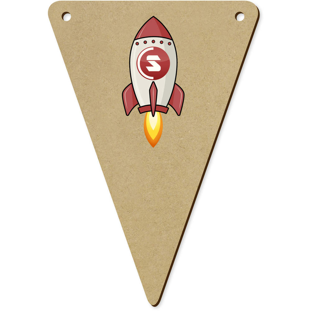 'SuperCoin Rocket' Wooden Bunting Flags