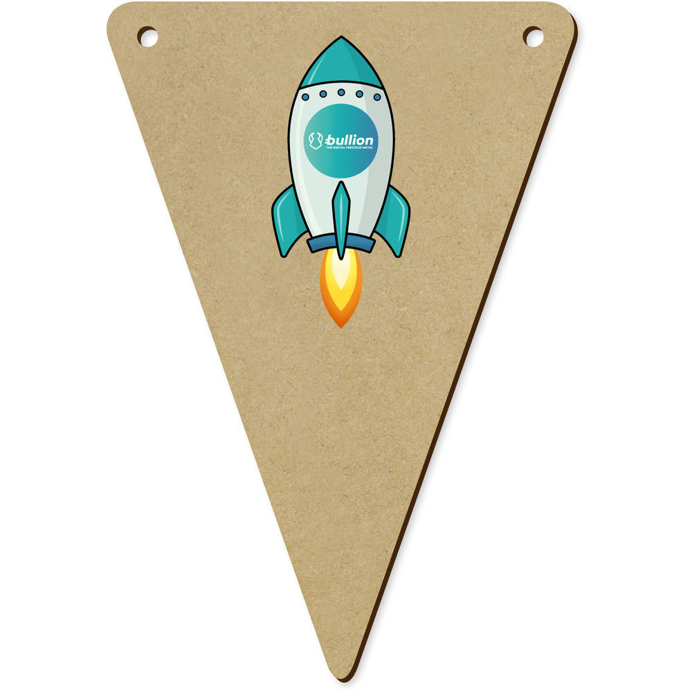 'Bullion Rocket' Wooden Bunting Flags