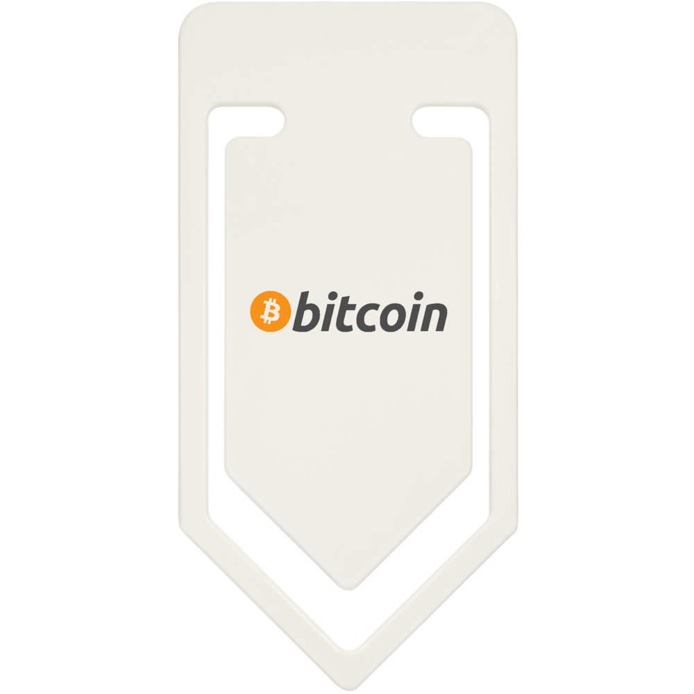 'Bitcoin Logo & Text' Plastic Paper Clip