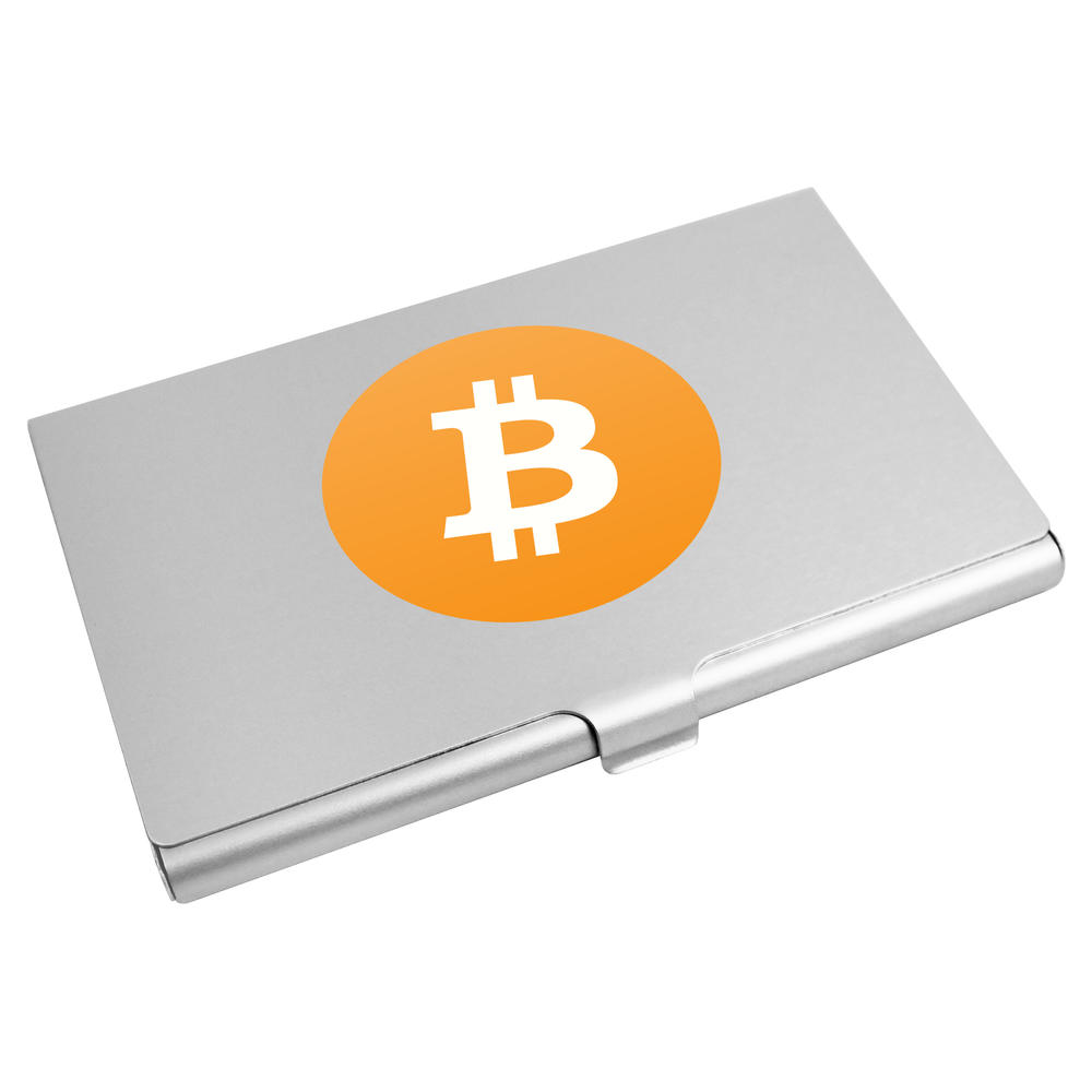 'Bitcoin Logo' Business Card Holder / Credit Card Wallet (CH00000012)