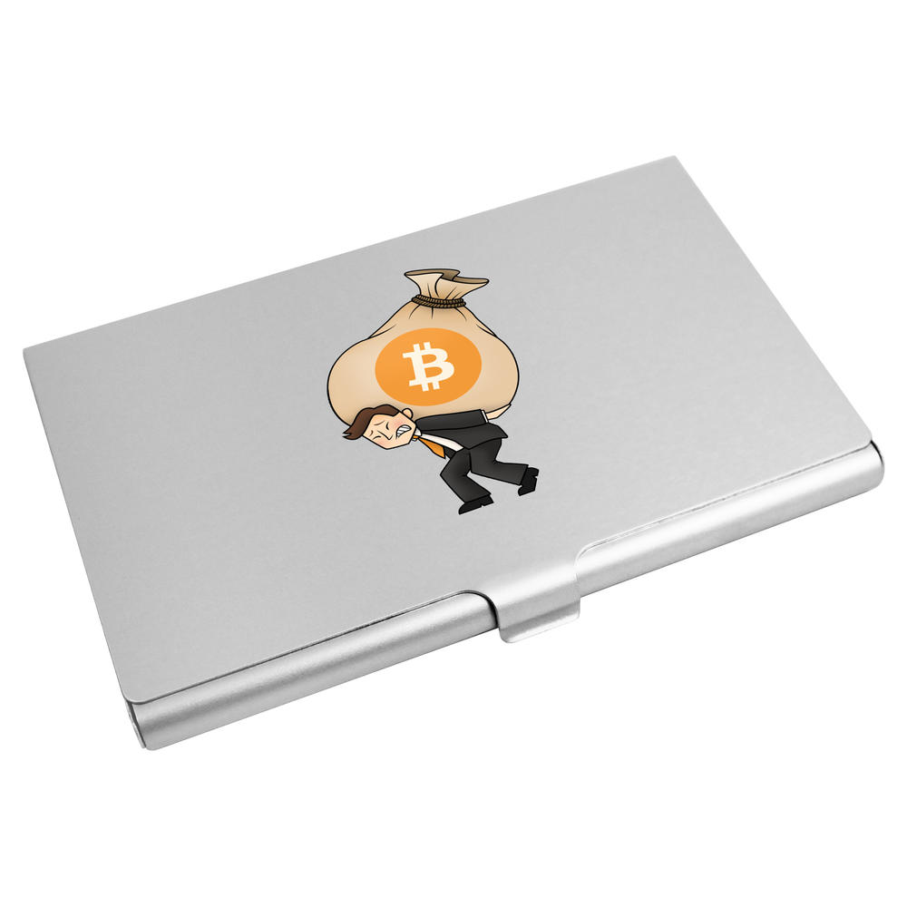'Bitcoin Heavy Bags' Business Card Holder / Credit Card Wallet (CH00000015)