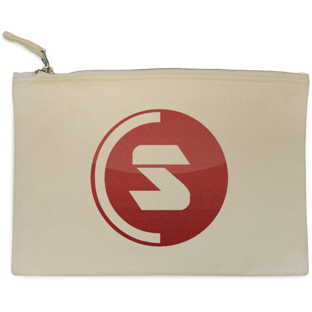 'SuperCoin Logo' Canvas Clutch Bag / Accessory Case (CL00000002)