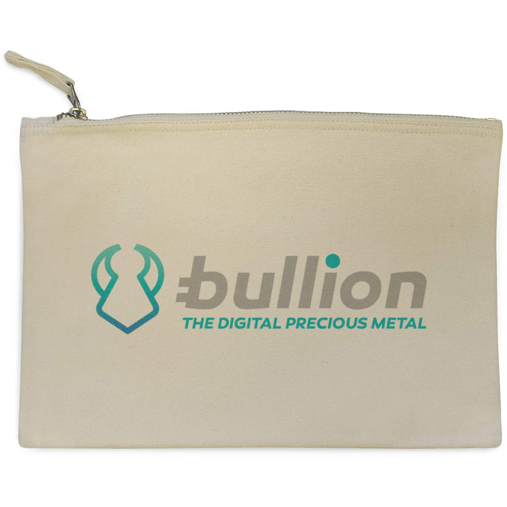 'Bullion Logo' Canvas Clutch Bag / Accessory Case (CL00000008)
