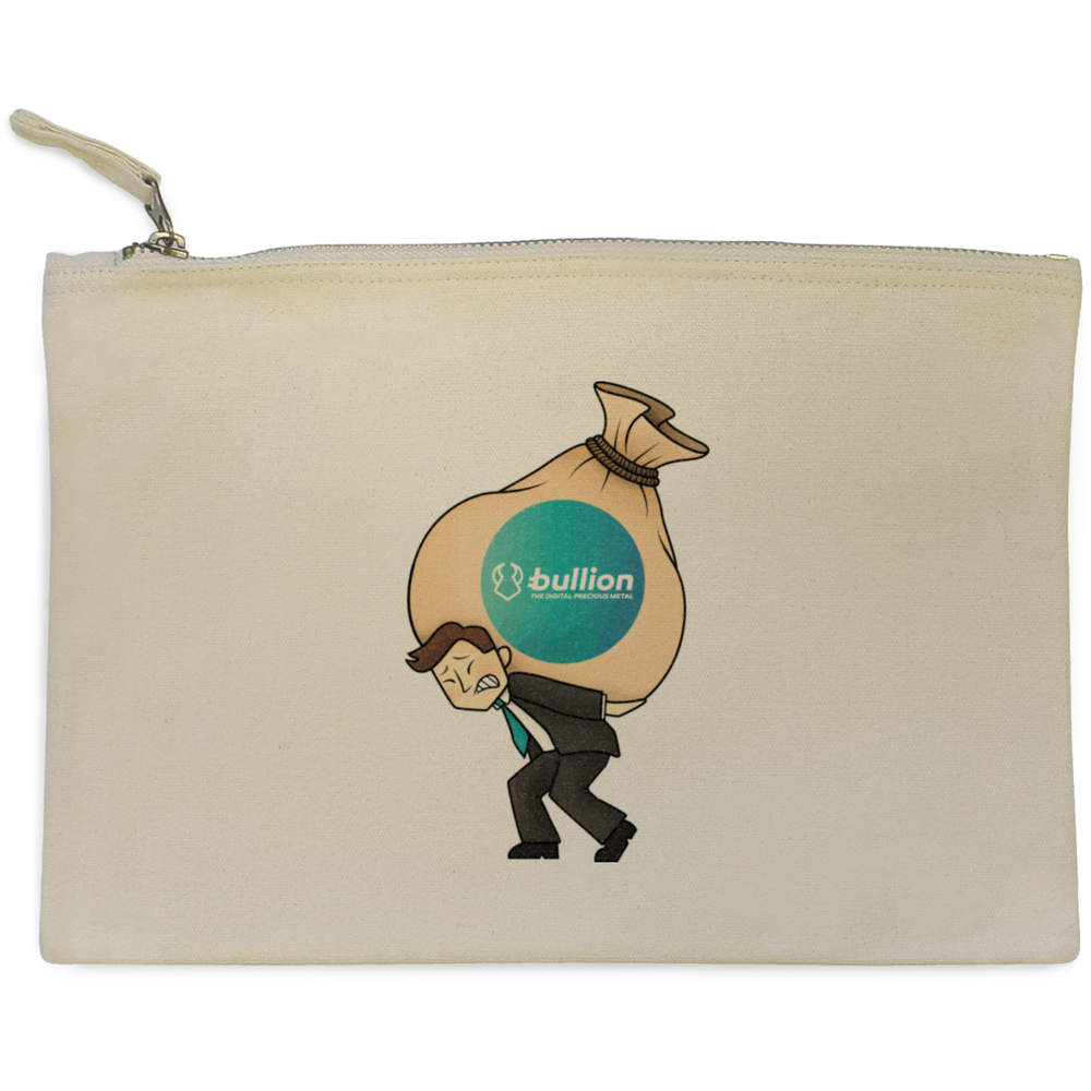 'Bullion Heavy Bags' Canvas Clutch Bag / Accessory Case (CL00000009)