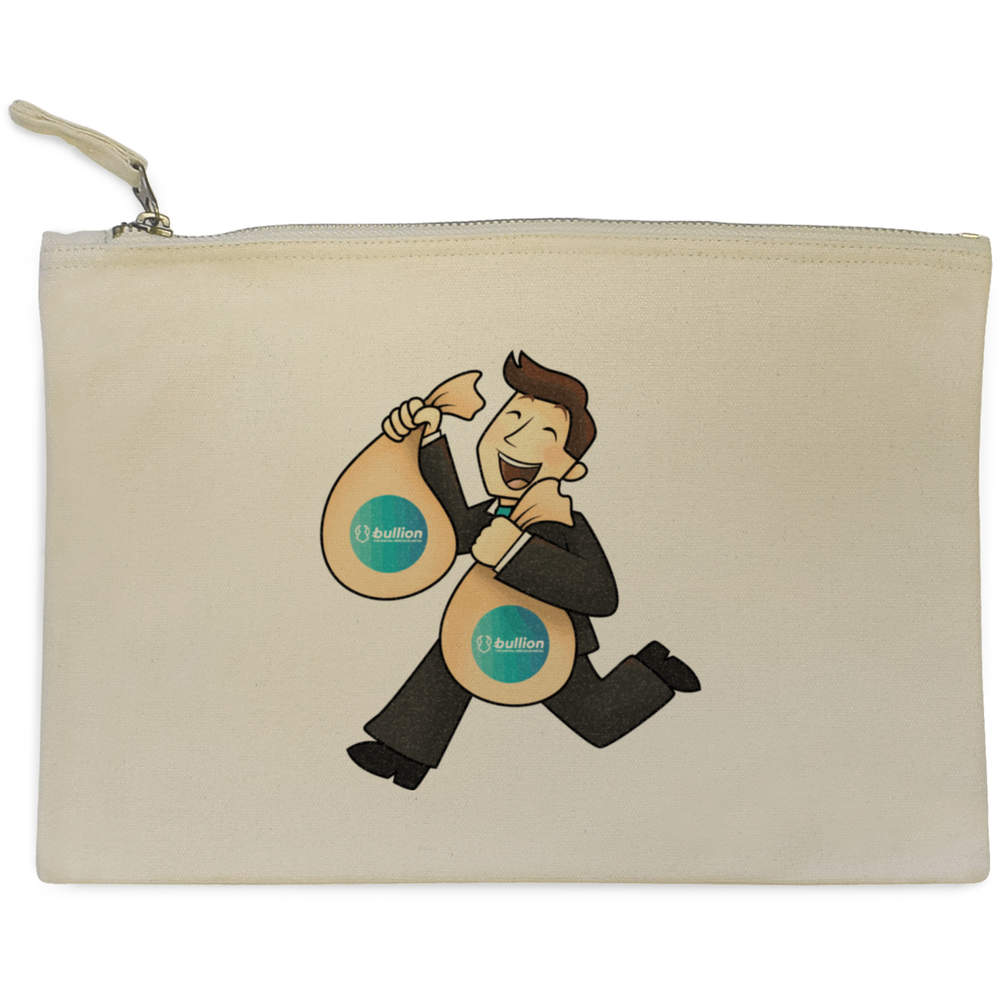'Bullion Bag Holder' Canvas Clutch Bag / Accessory Case (CL00000010)