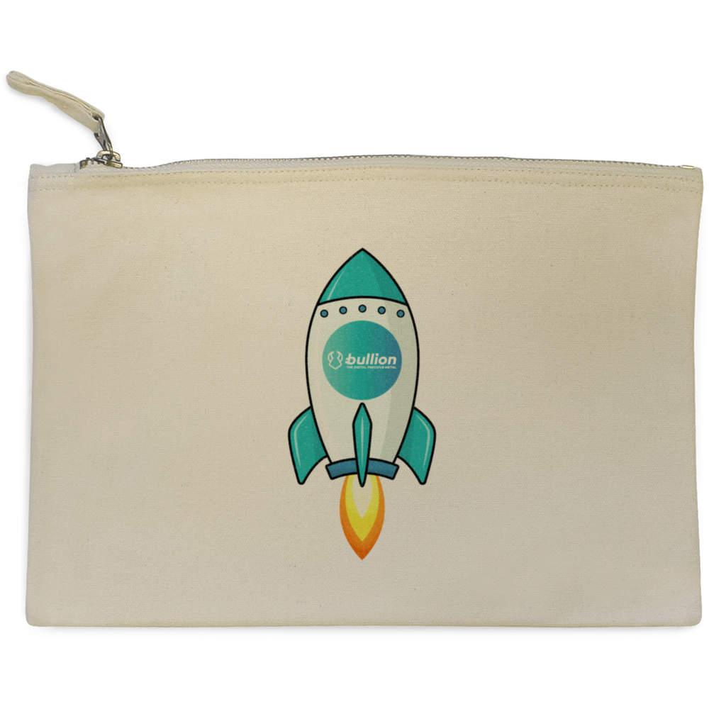 'Bullion Rocket' Canvas Clutch Bag / Accessory Case (CL00000013)