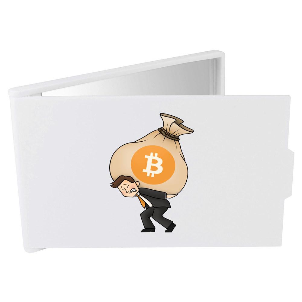 'Bitcoin Heavy Bags' Compact / Travel / Pocket Makeup Mirror (CM00000004)