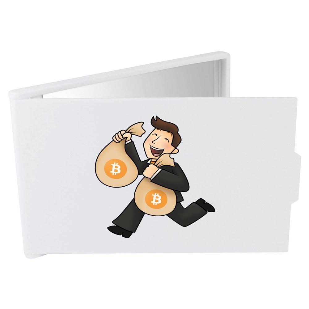 'Bitcoin Bag Holder' Compact / Travel / Pocket Makeup Mirror (CM00000005)