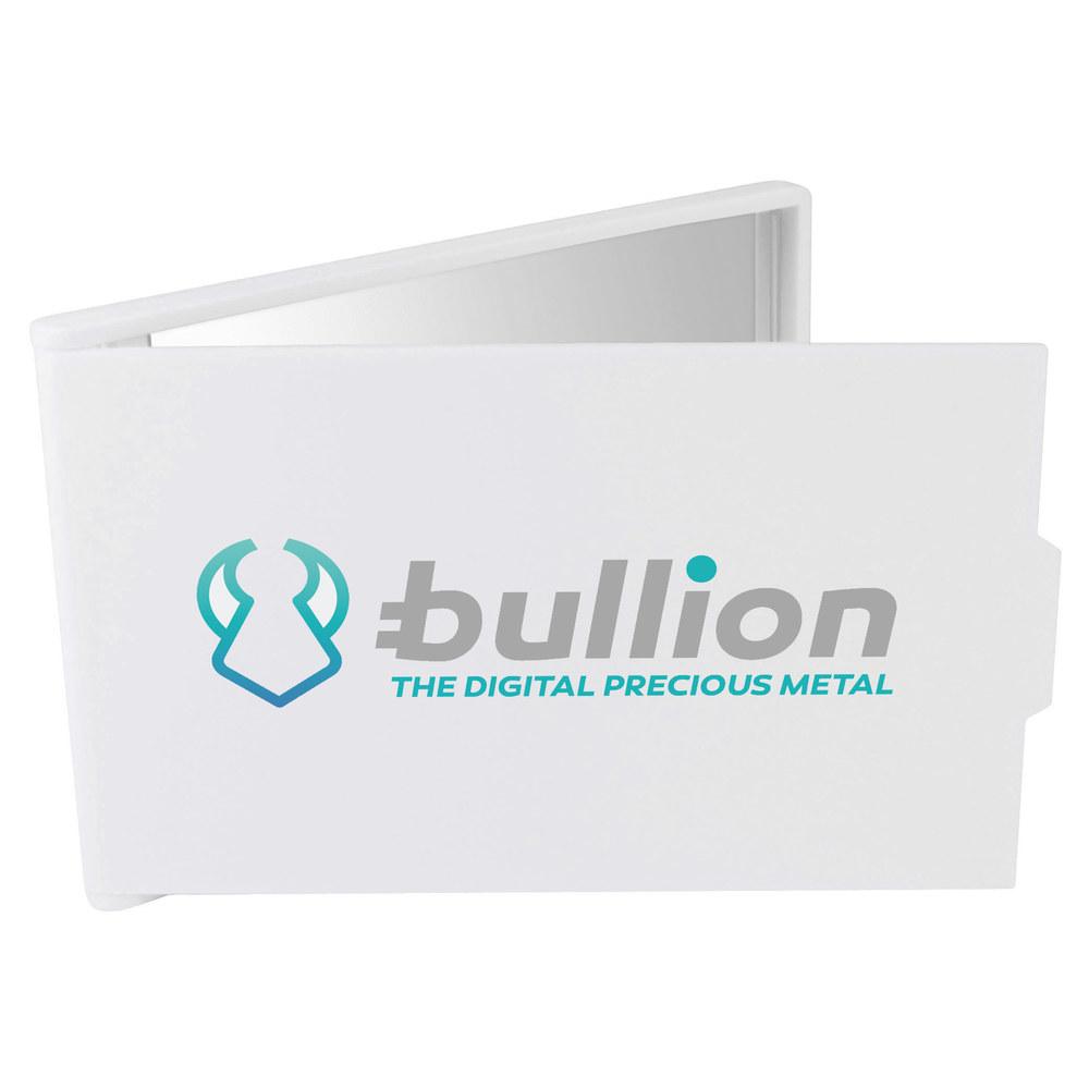 'Bullion Logo' Compact / Travel / Pocket Makeup Mirror (CM00000008)