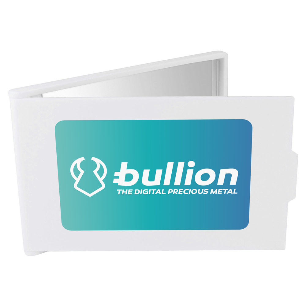'Bullion Logo' Compact / Travel / Pocket Makeup Mirror (CM00000011)