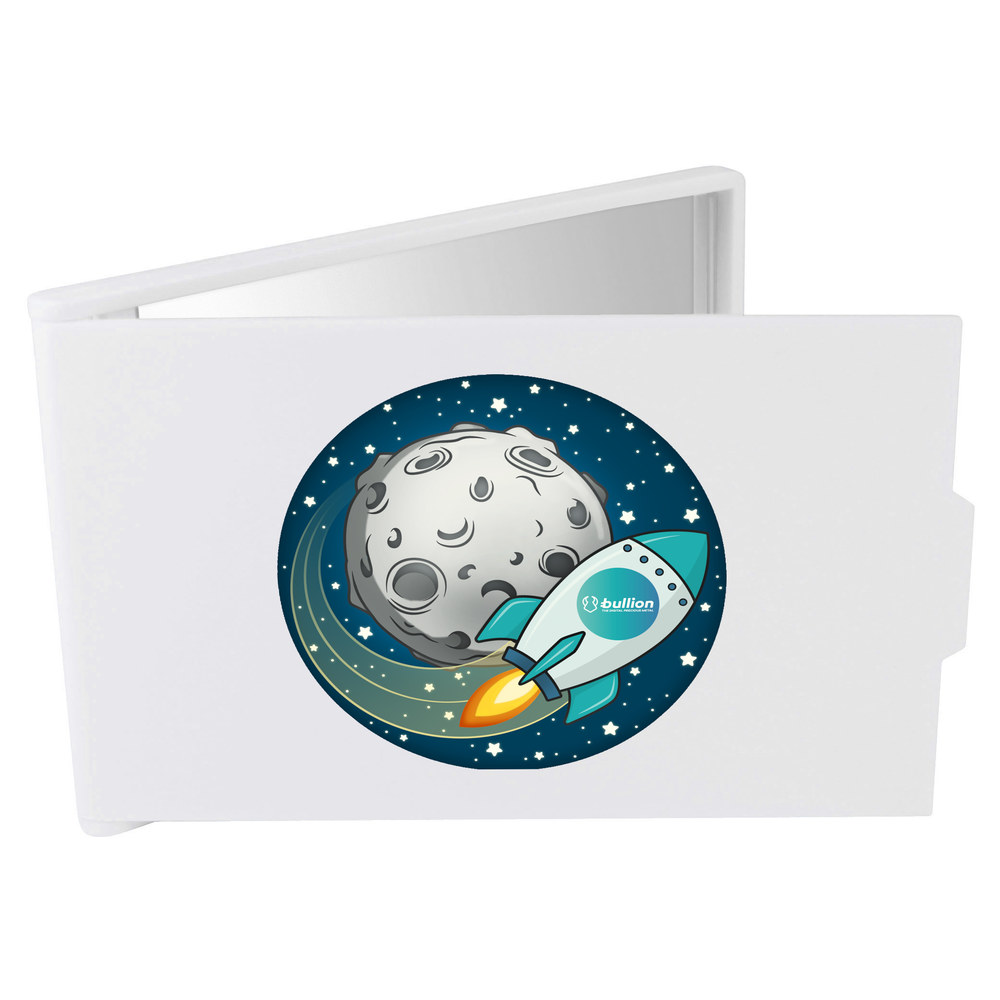 'Bullion Rocket To The Moon' Compact / Travel / Pocket Makeup Mirror (CM00000027)