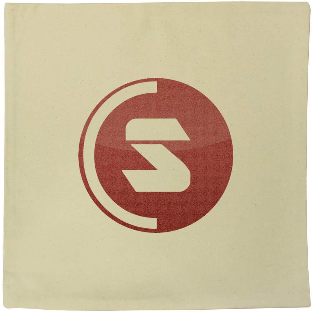 40cm x 40cm 'SuperCoin Logo' Canvas Cushion Cover (CV00000002)
