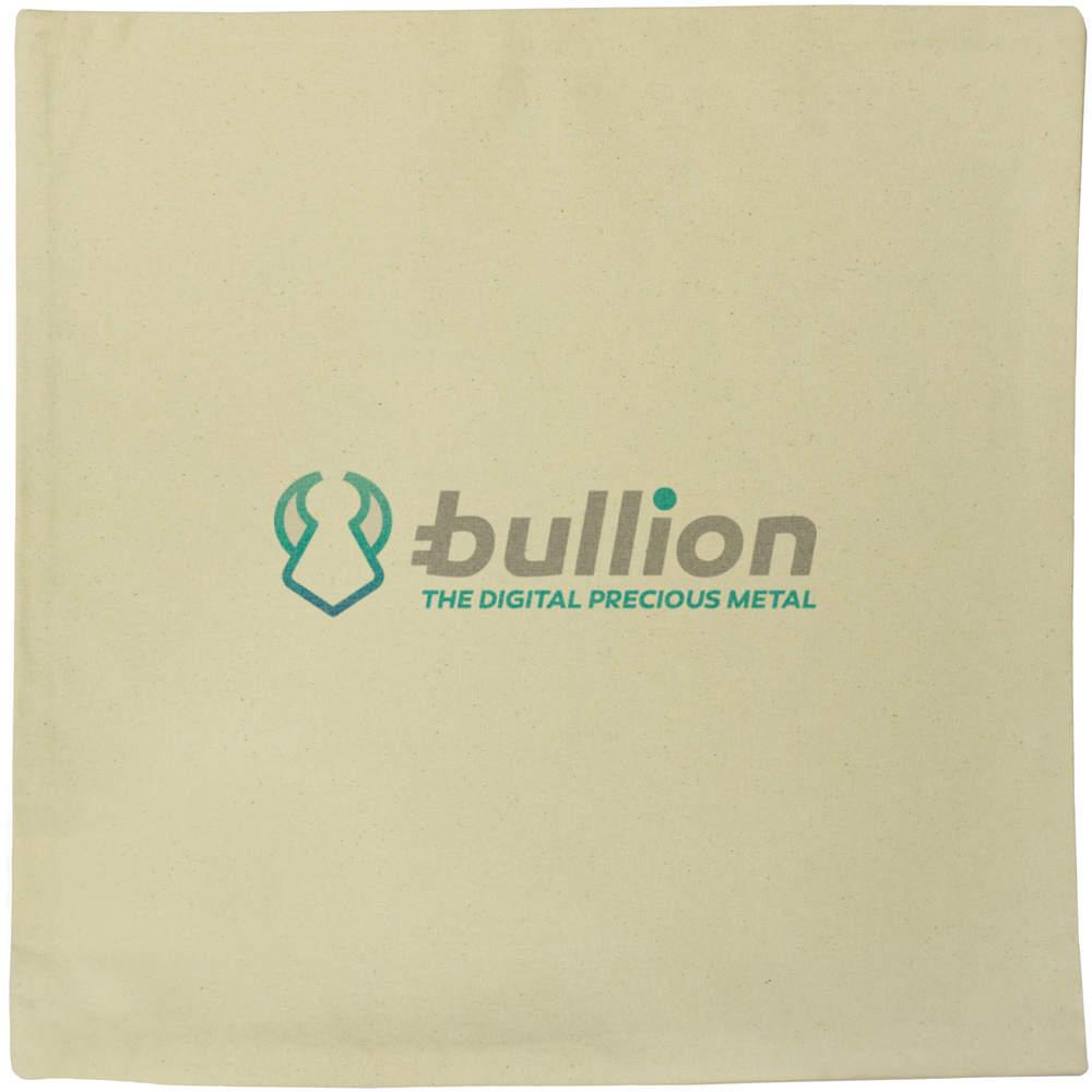 40cm x 40cm 'Bullion Logo' Canvas Cushion Cover (CV00000008)