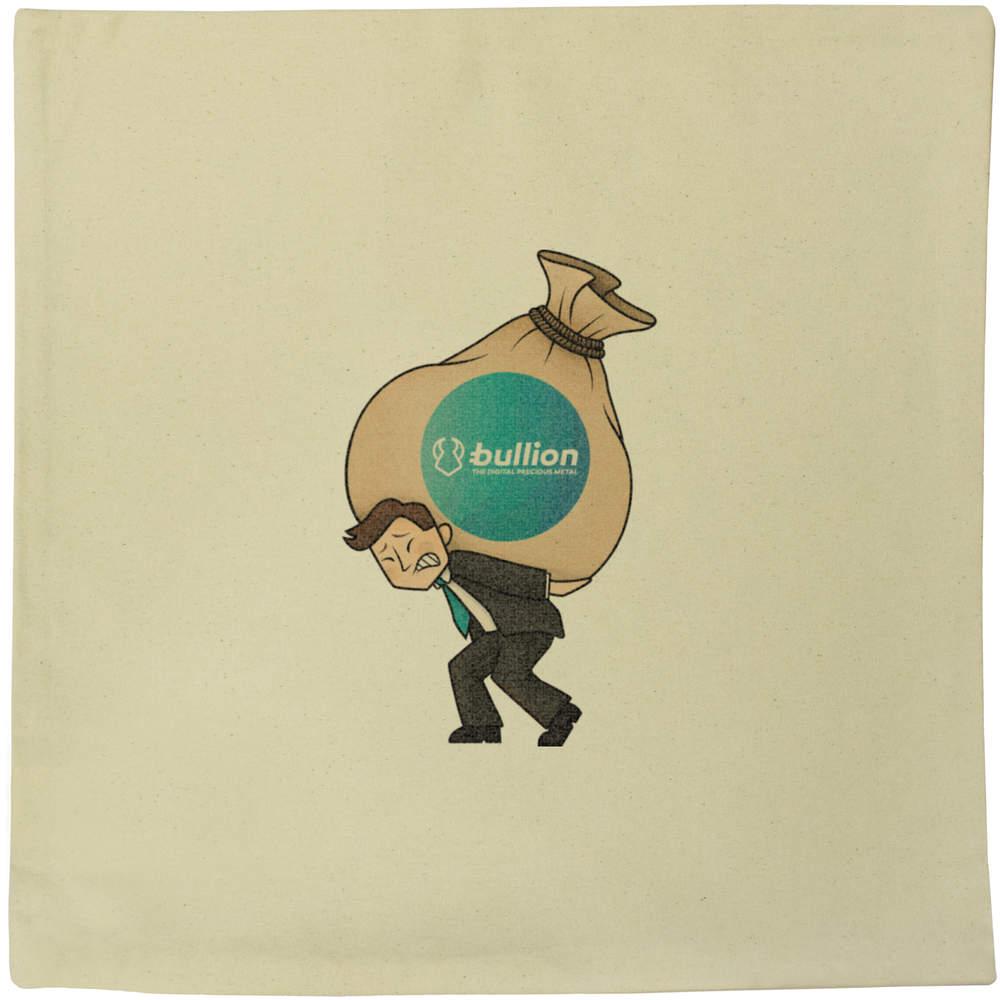 40cm x 40cm 'Bullion Heavy Bags' Canvas Cushion Cover (CV00000009)
