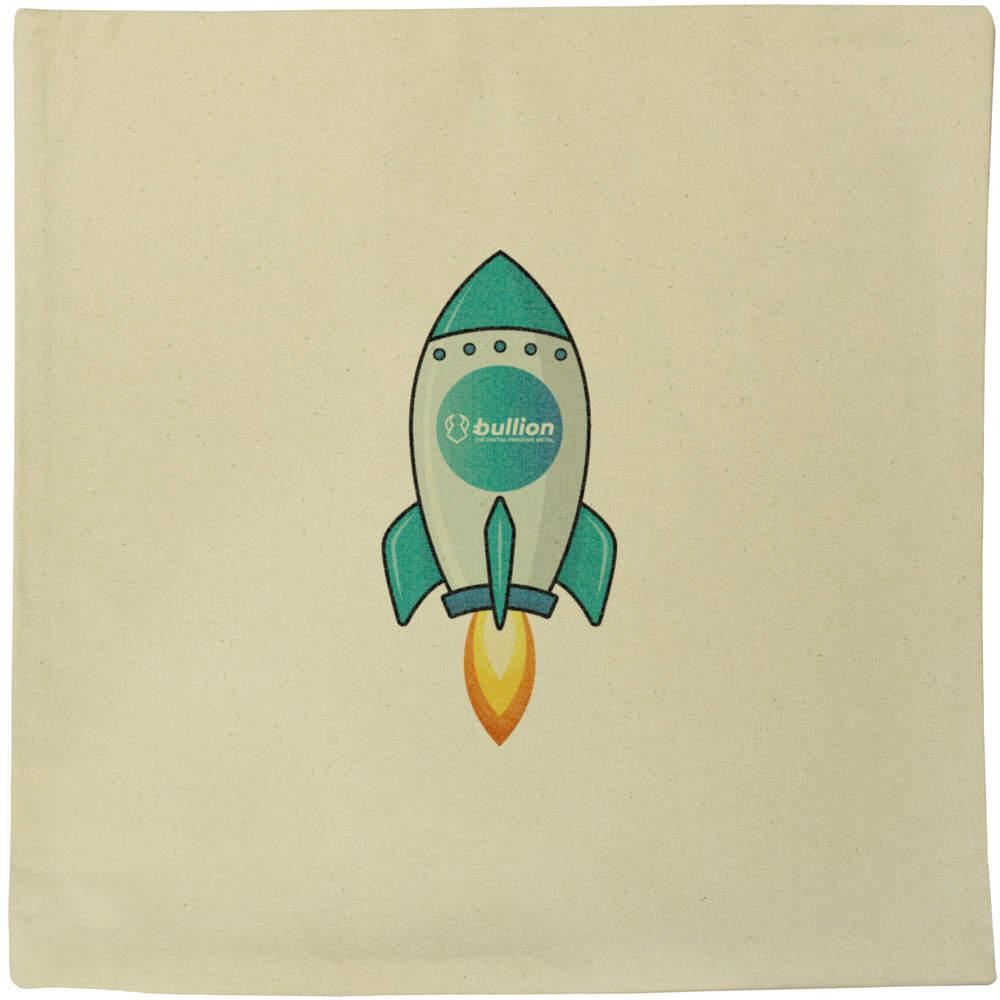 40cm x 40cm 'Bullion Rocket' Canvas Cushion Cover (CV00000013)