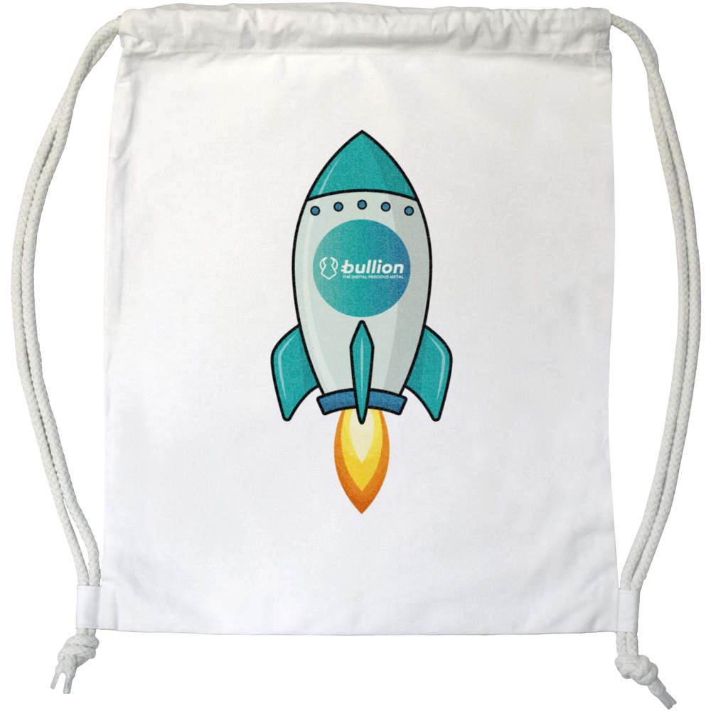 'Bullion Rocket' Drawstring Gym Bag / Sack (DB00000013)