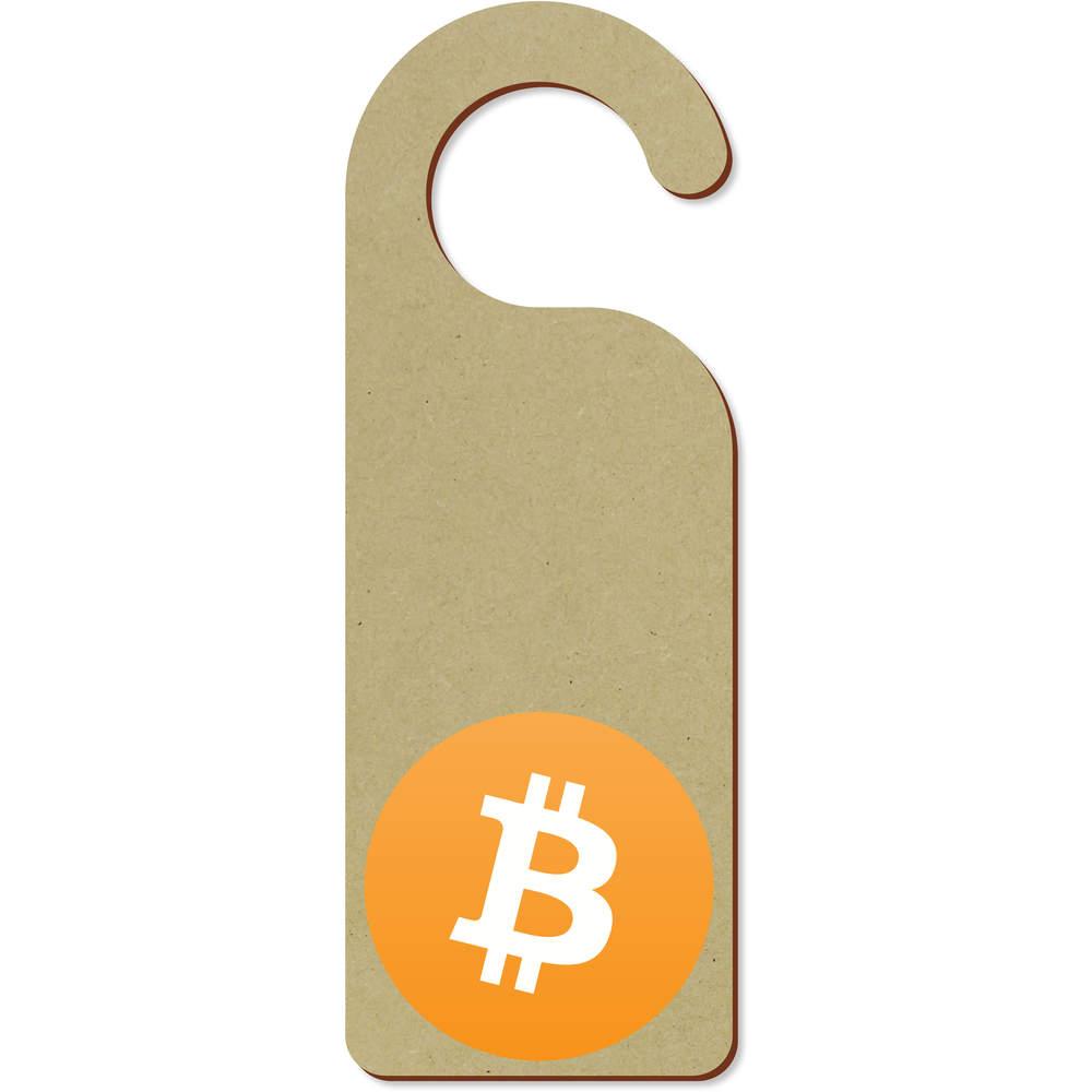 'Bitcoin Logo' 200mm x 72mm Door Hanger (DH00000001)