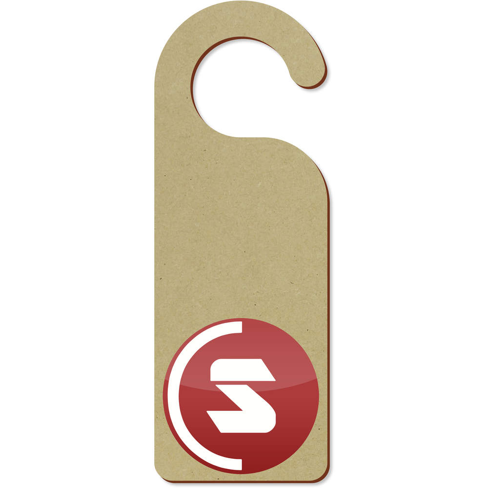 'SuperCoin Logo' 200mm x 72mm Door Hanger (DH00000002)