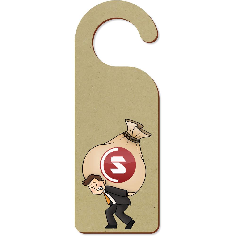 'SuperCoin Heavy Bags' 200mm x 72mm Door Hanger (DH00000007)