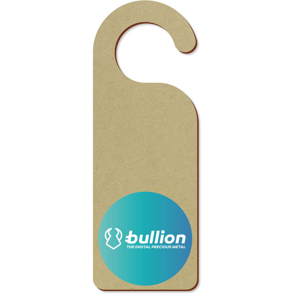 'Bullion Logo' 200mm x 72mm Door Hanger (DH00000011)