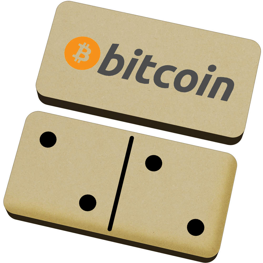'Bitcoin Logo & Text' Domino Set & Box (DM00000003)