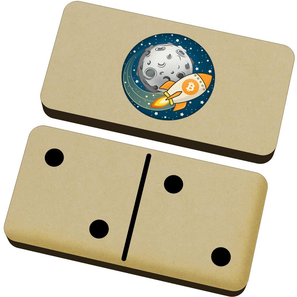 'Bitcoin Rocket To The Moon' Domino Set & Box (DM00000015)
