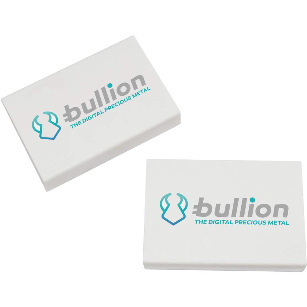 2 x 45mm 'Bullion Logo' Erasers / Rubbers (ER00000008)