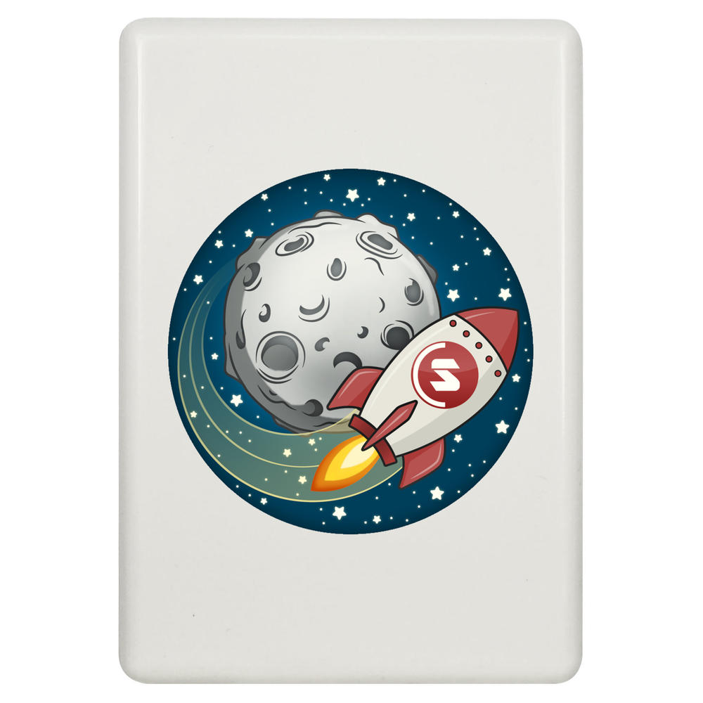 'Supercoin Rocket To The Moon' Fridge Magnet (FM00000014)