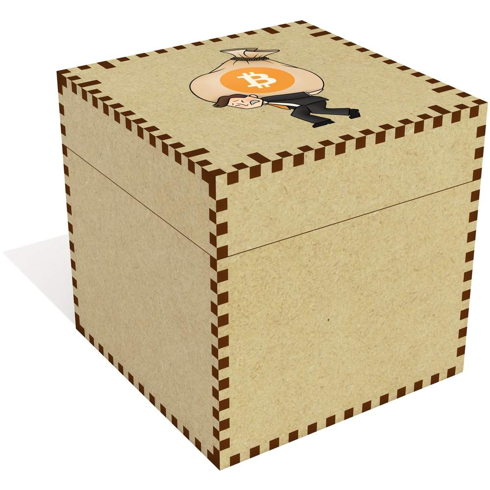 'Bitcoin Heavy Bags' Jewellery / Trinket Boxes