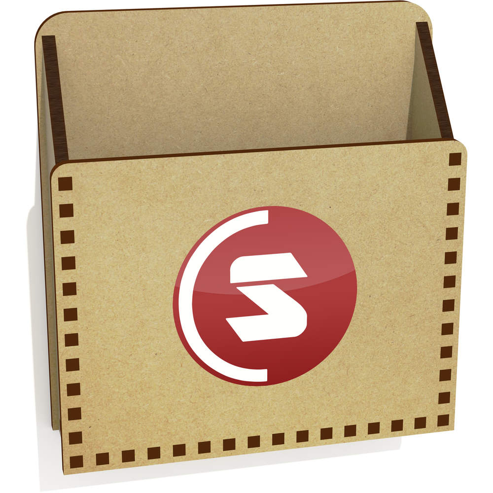'SuperCoin Logo' Wooden Letter Holder / Box (LH00000003)