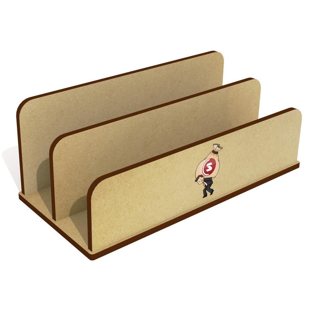 'SuperCoin Heavy Bags' Wooden Letter Rack / Holder (LH00000014)
