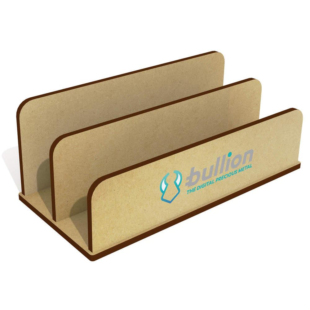'Bullion Logo' Wooden Letter Rack / Holder (LH00000016)