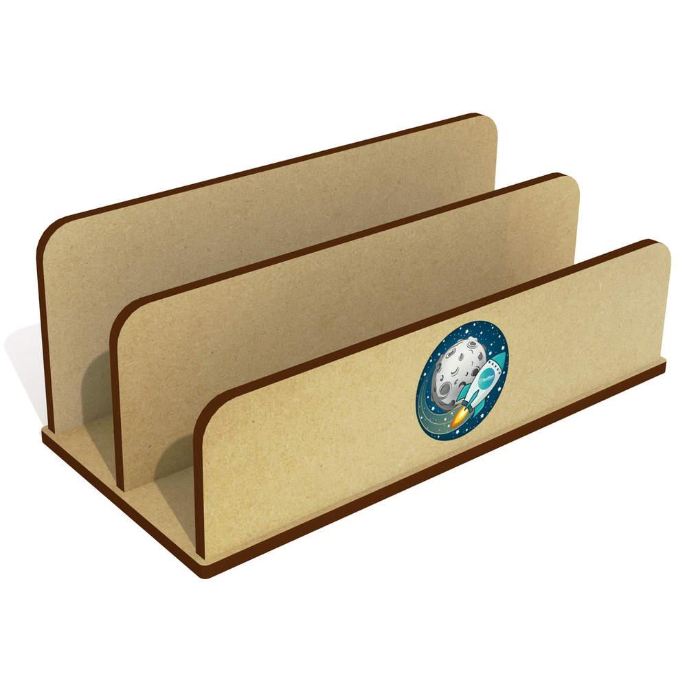 'Bullion Rocket To The Moon' Wooden Letter Rack / Holder (LH00000032)