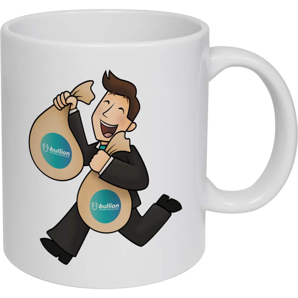 11oz (320ml) 'Bullion Bag Holder' Ceramic Mug / Cup (MG00000010)