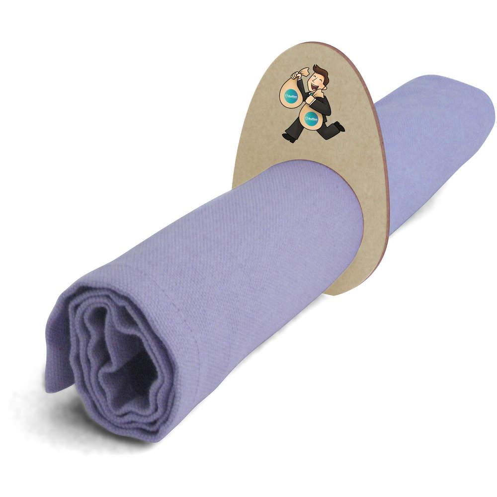 5 x 'Bullion Bag Holder' Wooden Napkin Rings / Holders (NR00000010)