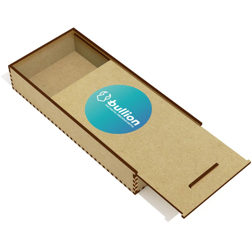 'Bullion Logo' Wooden Pencil Case / Slide Top Box (PC00000011)