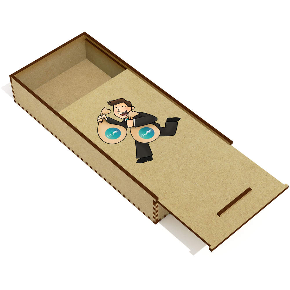 'Bullion Bag Holder' Wooden Pencil Case / Slide Top Box (PC00000021)