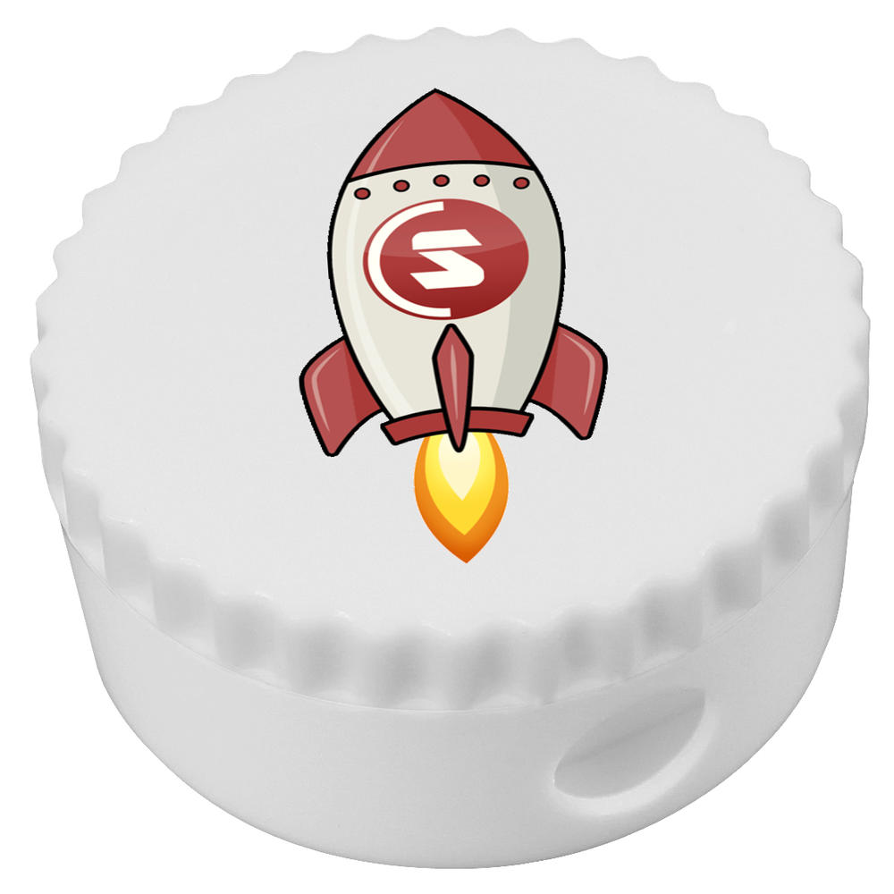 'SuperCoin Rocket' Compact Pencil Sharpener (PS00000022)