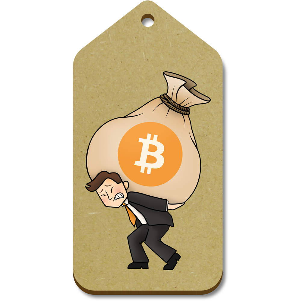 'Bitcoin Heavy Bags' Gift / Luggage Tags (Pack of 10)