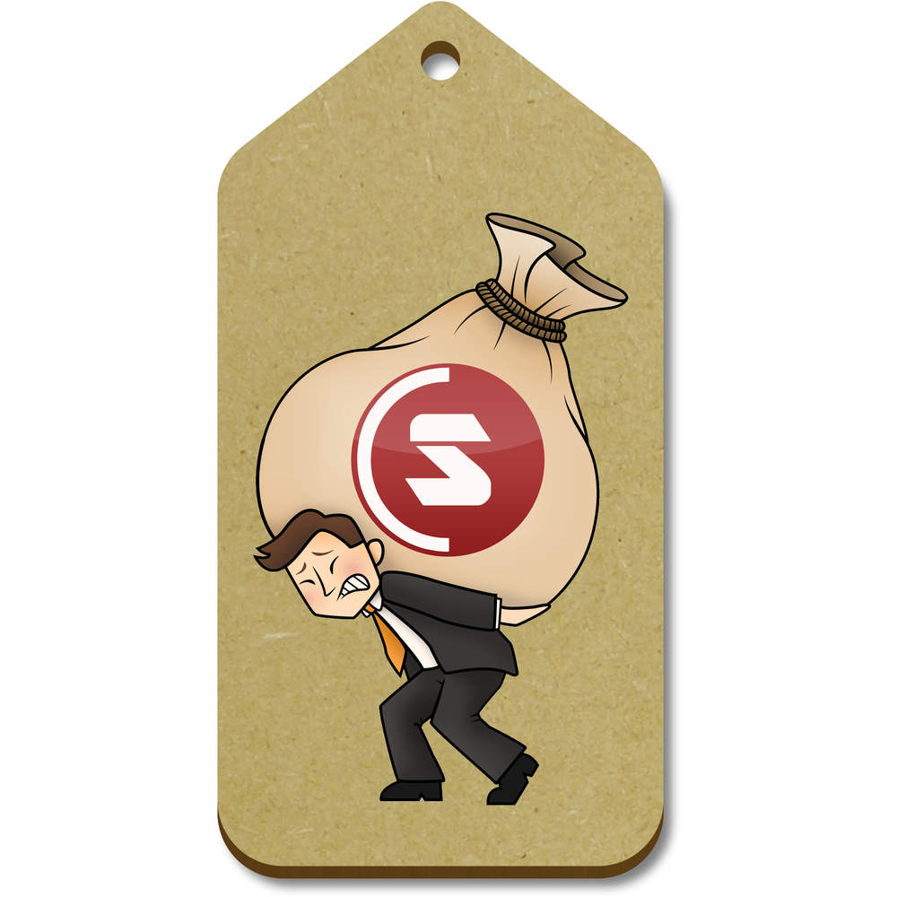 'SuperCoin Heavy Bags' Gift / Luggage Tags (Pack of 10)