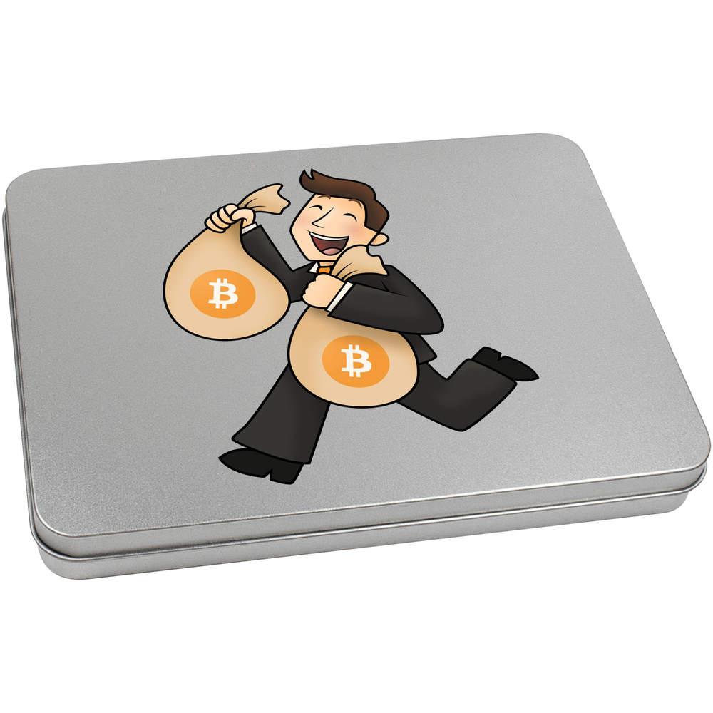 'Bitcoin Bag Holder' Metal Hinged Tin / Storage Box