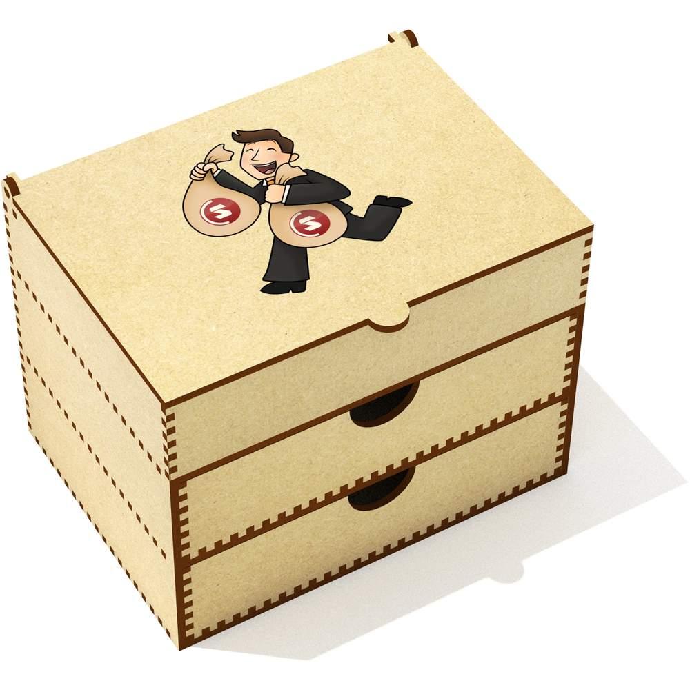 'SuperCoin Bag Holder' Vanity Case / Makeup Box (VC00000006)