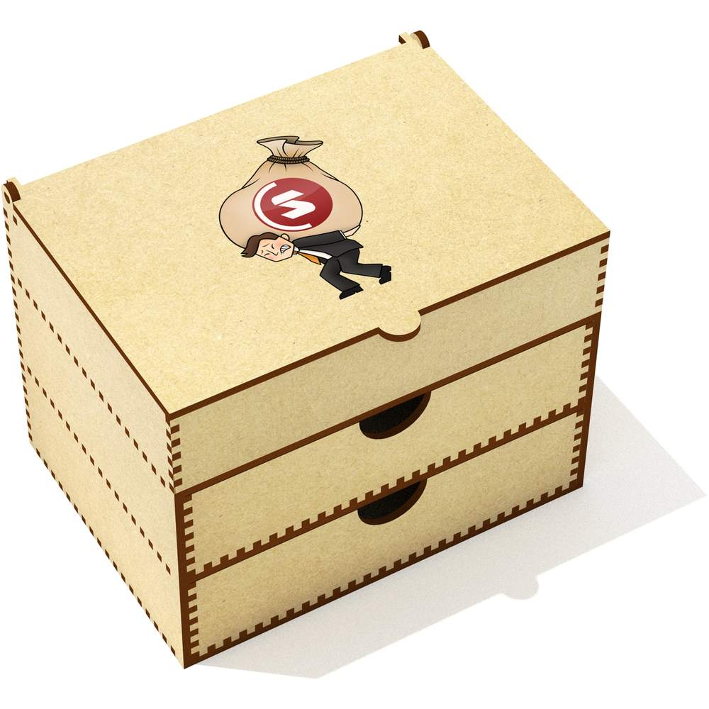'SuperCoin Heavy Bags' Vanity Case / Makeup Box (VC00000007)